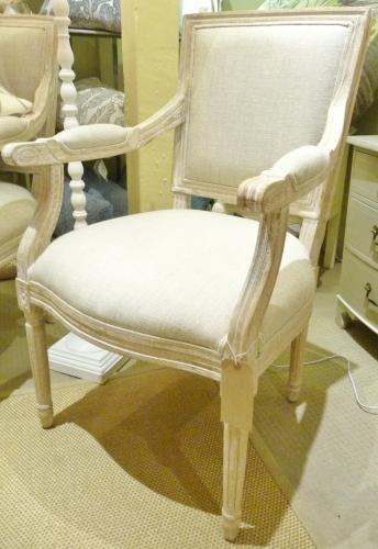 Oak & Linen Armchair