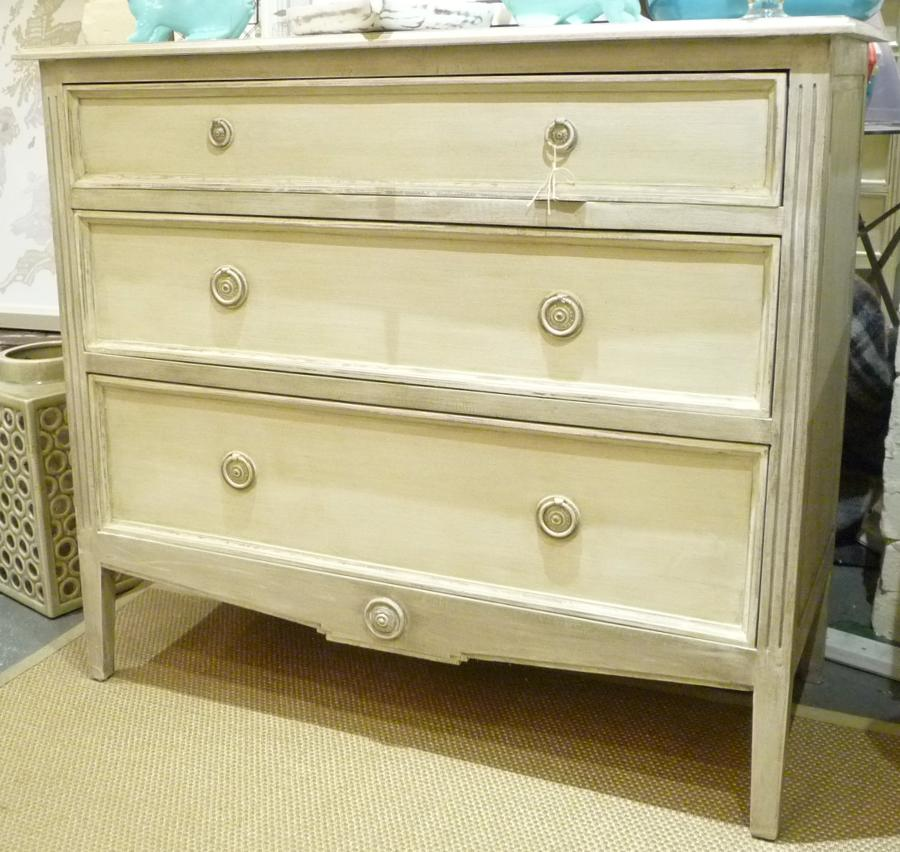 Painted French Style Chest of Drawers