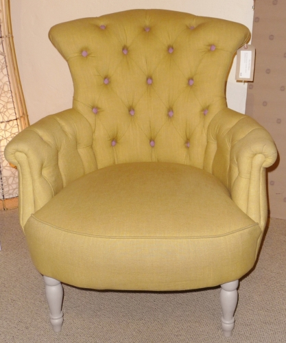 Buttoned Back Bedroom Chair