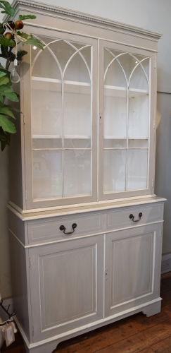 Painted Gothic Glazed Cabinet