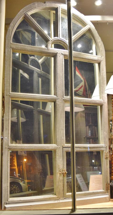 Large French window mirror