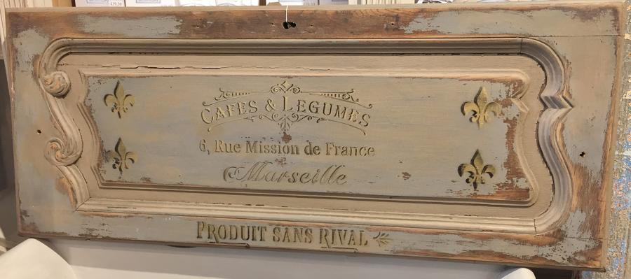 French stencilled panel