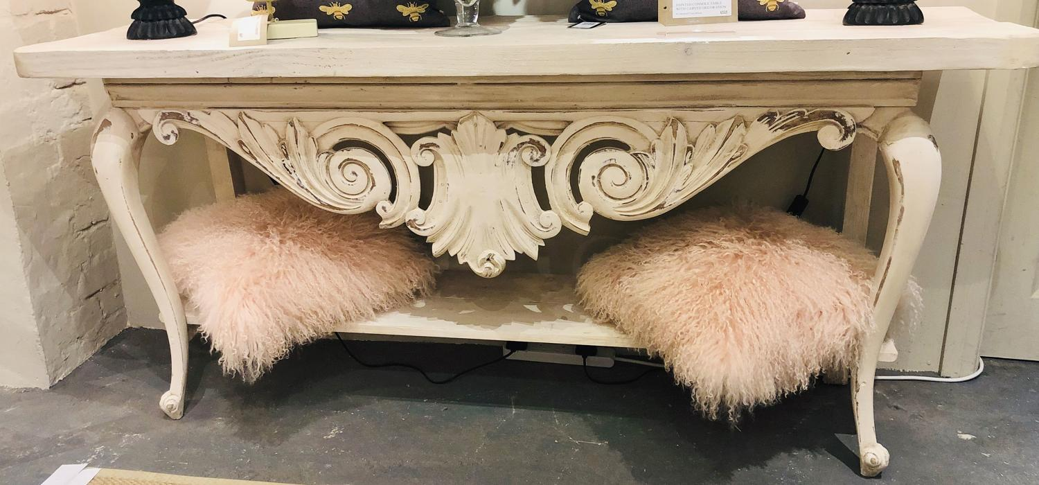 Rustic French style console table