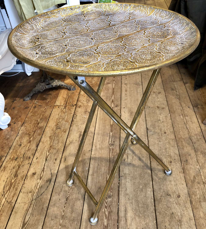 Pierced gilt metal table