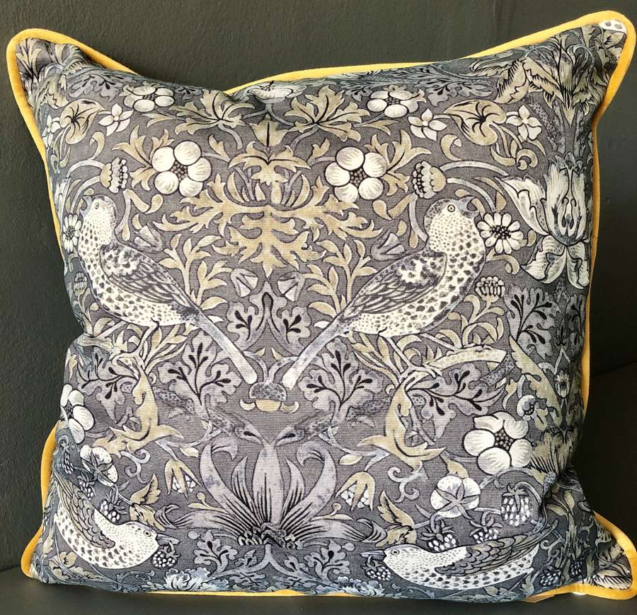 Grey bird cushion