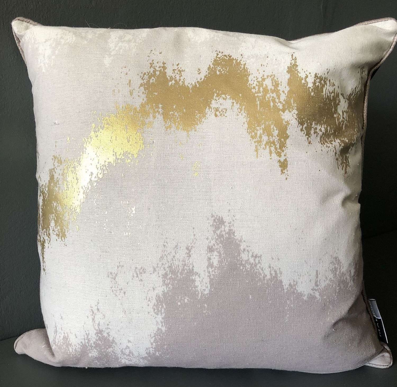 Gold abstract cushion
