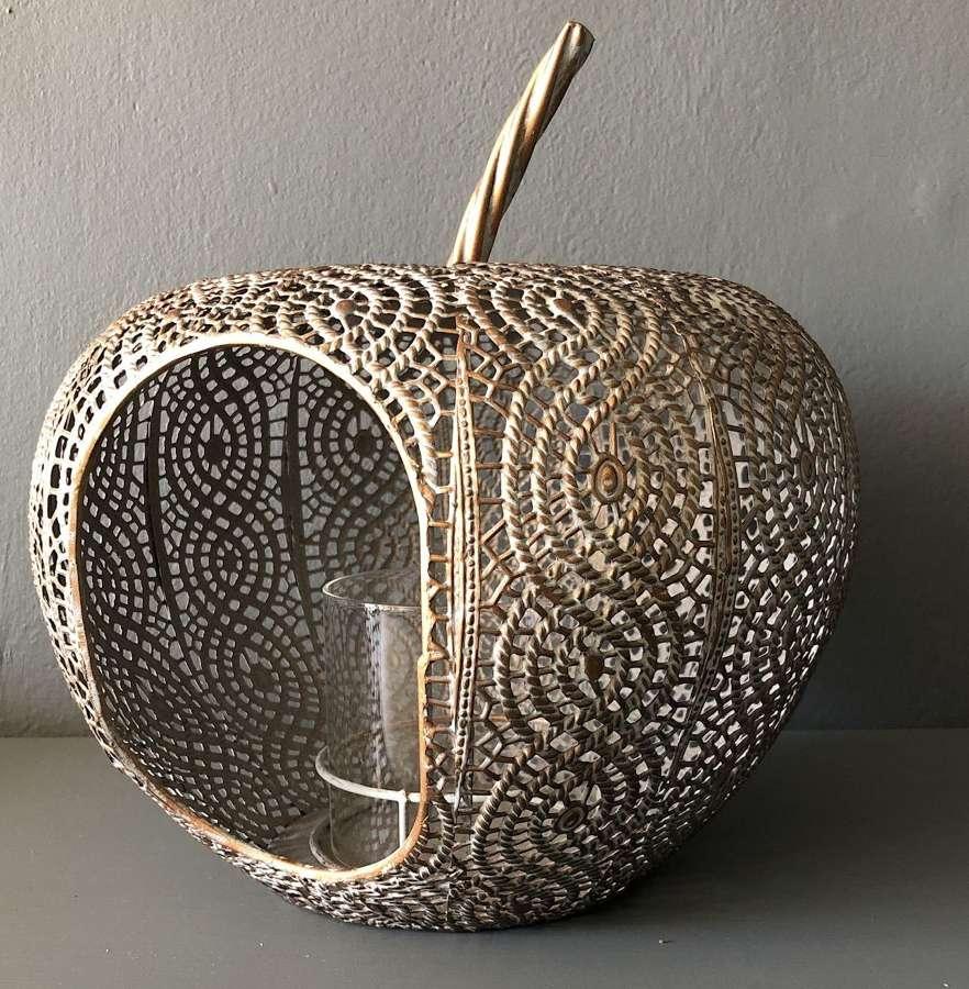 Metal apple lantern