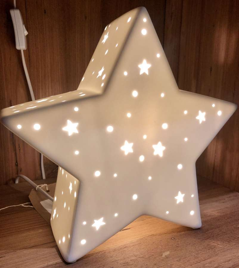 Ceramic star lamp