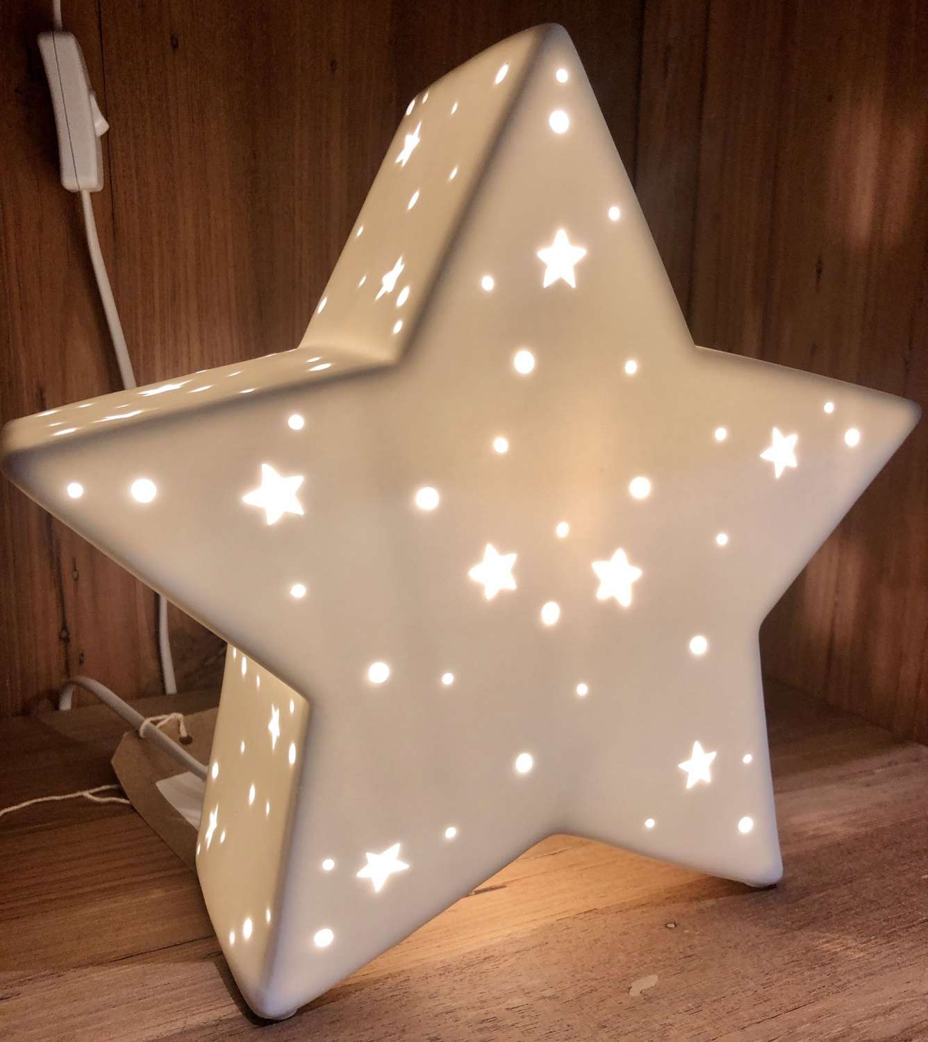 Ceramic star lamp