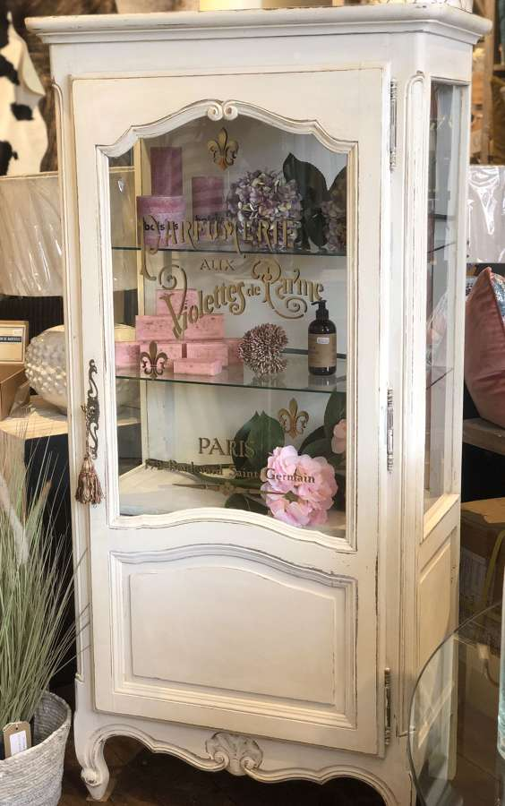 Stencilled French cabinet