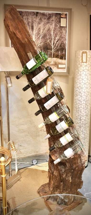 Teak wine rack